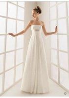New style wedding dress  Strapless Sweep Train