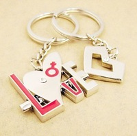 fashional and beautiful  lovers letter LOVE key chain free ship