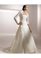 New fashion wedding dress  Strapless Sweep Train