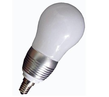 E14/E26/E27 base(please specify)3*1W led bulb;warm white;P/N:QP3W008