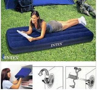 free shipping Inflatable bed mattress inflated INTEX 68950 single corduroy(China (Mainland))