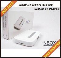 5pcs/lot--NBOX (N BOX)Digital Media Player For USB Drives Receiver  Nbox HD Media Player USB SD TV Player N BOX for Home Theater