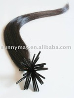 Stick tip Hair Extension Keratin Tip Pre-bonded Human Hair Extension