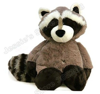 "Free shipping 16""NICI Gray&Black Sitting Racoon Stuffed Plush,Stuffed toys gift"