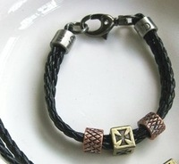 free shipping leather bracelet and chain free shipping