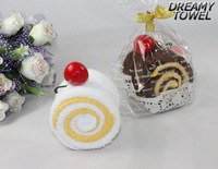 MX-01 Cotton mixed colour unique cake shape towel,washcloth gift set 30cm x30cm ,wholeseller