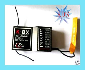 KDS K-8X 2.4G 8 Channel receiver RC Receiver RX for K-7X transmitter hot wholesale free shipping all country w/ tracking number
