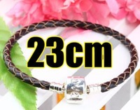 Love Clasps Leather Bracelet 23cm  3118-26