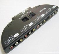 4-way AV Audio Video Game Multi Selector Switch  AV  4 Input 1 Output Switcher
