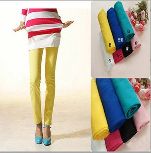 Pencil pants stretch tight trousers(China (Mainland))