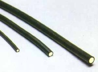 100m/roll PVC covered black Solid Core optical end emmiting optical fiber;inner diameter 2.5mm;outer diameter:4.0mm