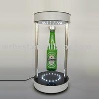magnetic floating bottle pop display stand