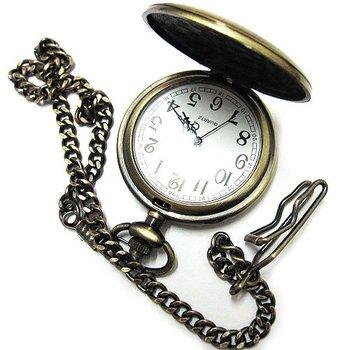 2010 Nice Vintage Design Bronze quartz Style Pocket Watch