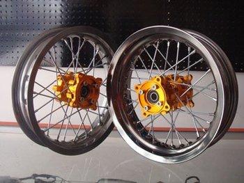 Top front 3.00-12' rear 3.00-12' CNC alloy wheels kit for 125cc 140cc 150cc 160cc off  road pit bike dirt bike