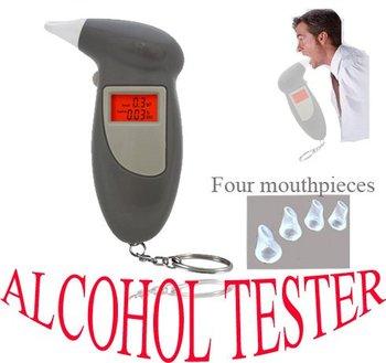 100pcs xDigital breathalyzer,breathalyser,alcohol tester w/mouthpieces