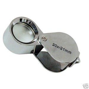 30X21 JEWELLERS EYE GLASS MAGNIFILER DIAMOND GOLD LOUPE(China (Mainland))