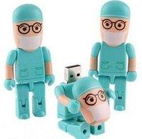surgeon doctor shape 2gb 4gb 8gb 16gb 32gb usb flash drives pen drive usb stick thumb drive Udisk free shipping 10pcs/lot