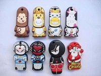 New Cartoon 16GB/8GB/4GB/2GB USB Flash Pen Drive Memory Stick flash pen keys dirve 10pcs/lot