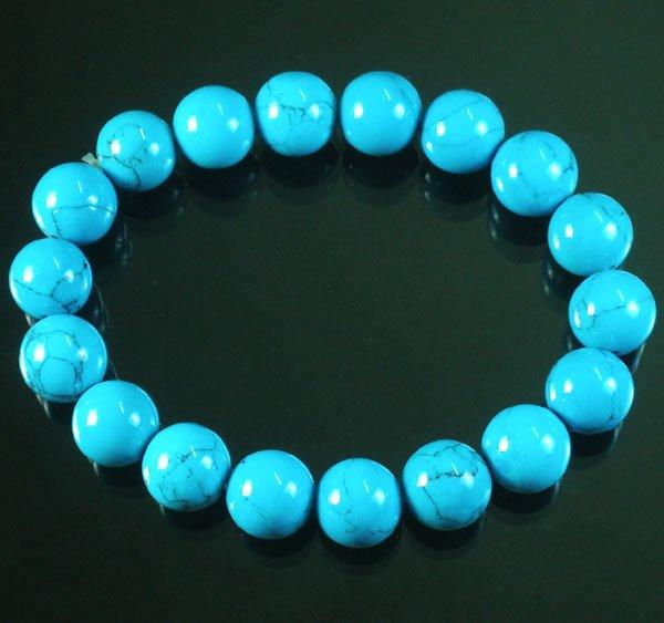 Veias tibetano azul pedra Bead budista Mala Bracelet WZ29(China (Mainland))