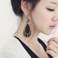 Bohemia classical earrings Pierced water drop shape pendant Fashion Alloy Earring Women's The Newest 25pcs/lot