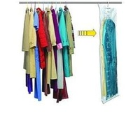 free shipping space bag 105*70cm with hanger,OEM supplier,same as seen as On TV