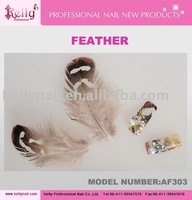 free shipping feather 3styles mixed nail art
