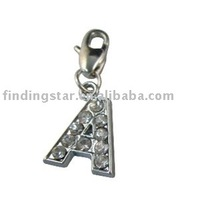 26 Mixed Rhinestone alphabet letter charms