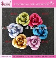 Free Shipping 50Bags/lot 3D Nail Art Decorations Metallic Rose