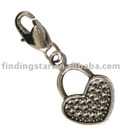 FREE SHIPPING 50pcs mixed styles tibetan silver charms with lobster clasp