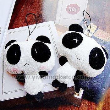 plush toys plush cartoon cell phone charm pendant panda phone charmFree shipping