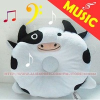 Freeshipping_10pieces/lot music Kids And Womens Bed Pillows Bedding & Curtain White New Fashion White Pigs pig MP3/Mp4_goodgift