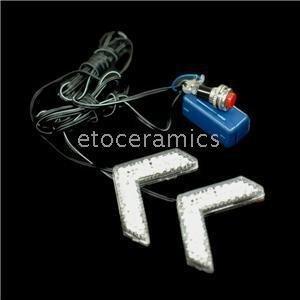 20pcs/Lots 2X 7 LED Turn Signal Arrow Flash Car Mirror Light--EMS free to