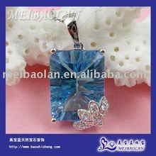 10k Gold Natural Blue Topaz Pendant(AB0033)(China (Mainland))