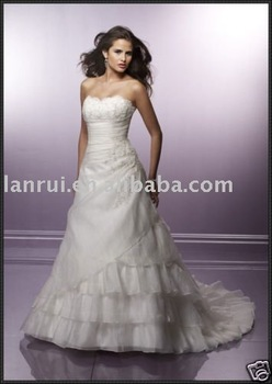 free shipping beautiful wedding dress