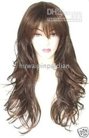 Beautiful long brown made hair women's wig/wigs Synthetic Wigs 5pcs/lot No.13