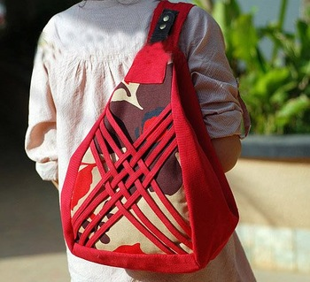 Wholesale Handicrafted Ladies Backpack Bag Red Shoulder Bag Canvas Handicrafted 10pcs a Lot Free Shipping