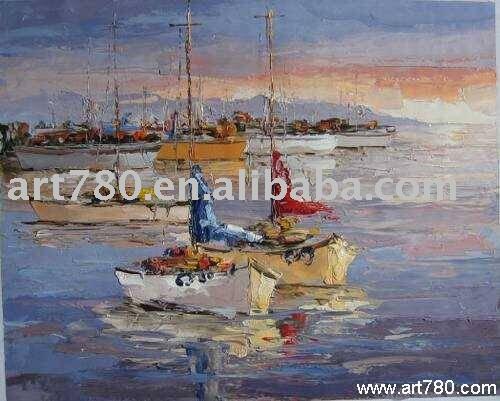 Pintura onda do mar 100% pintado à mão pintura a óleo por atacado em linha da arte da lona pintura(China (Mainland))