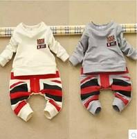 2014 autumn child set male child torx flag long-sleeve 2 piece set children harem pants sweatshirt set