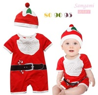 New arrival style romper hat 2014 Christmas Baby Clothes Boys&Girls Romper Winter/Thickening Romper Free Shipping p303