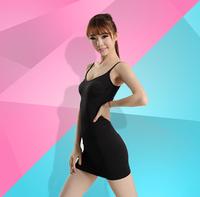 Spaghetti strap one-piece dress tube top  basic seamless underwear abdomen slim hip top drawing vest bra female