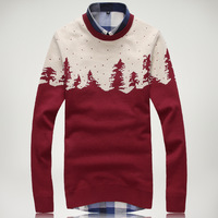 Free Shipping fashion 2014 men autumn and winter men sweater slim cardigan for men top quality o-neck mens sweaters