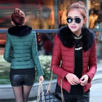 2014 wadded jacket female short design o-neck slim cotton-padded jacket women's plus size cotton-padded jacket