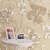 3d wallpaper roll flocking rustic non-woven thick wall paper modern flower mural papel de parede tapete bedroom torneira magnet