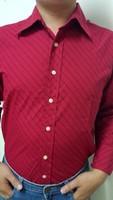 2014 autumn teenage personality casual male shirt slim men's clothing polka dot long-sleeve shirt