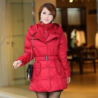 2014 New Arrival Winter Jacket Women Winter Medium-Long Ruffle Hem Jacket White Duck Down Coat Women Winter Coat Size L-XXXL