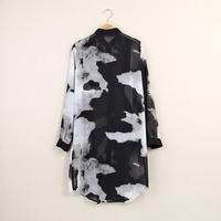 2014 autumn women's medium-long thin  gentlewomen long-sleeve pullover casual female t-shirt Chiffon Shirt Top Clothing
