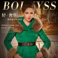 Fashion dovetail medium-long down coat slim thickening plus size winter women's