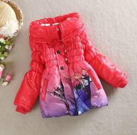 2014 new fashion ice Romance Lolita girls thick cotton coat long paragraph Beiji Rong Free shipping 2-7 years