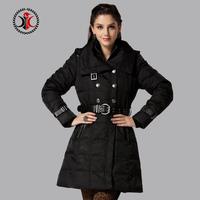 2014 medium-long detachable cap thickening slim down coat female