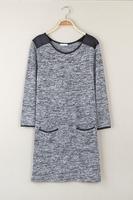 2014 autumn women's casual knitted gentlewomen loose long-sleeve all-match female long-sleeve T-shirt